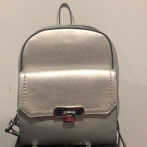 Aldo silver backpack
